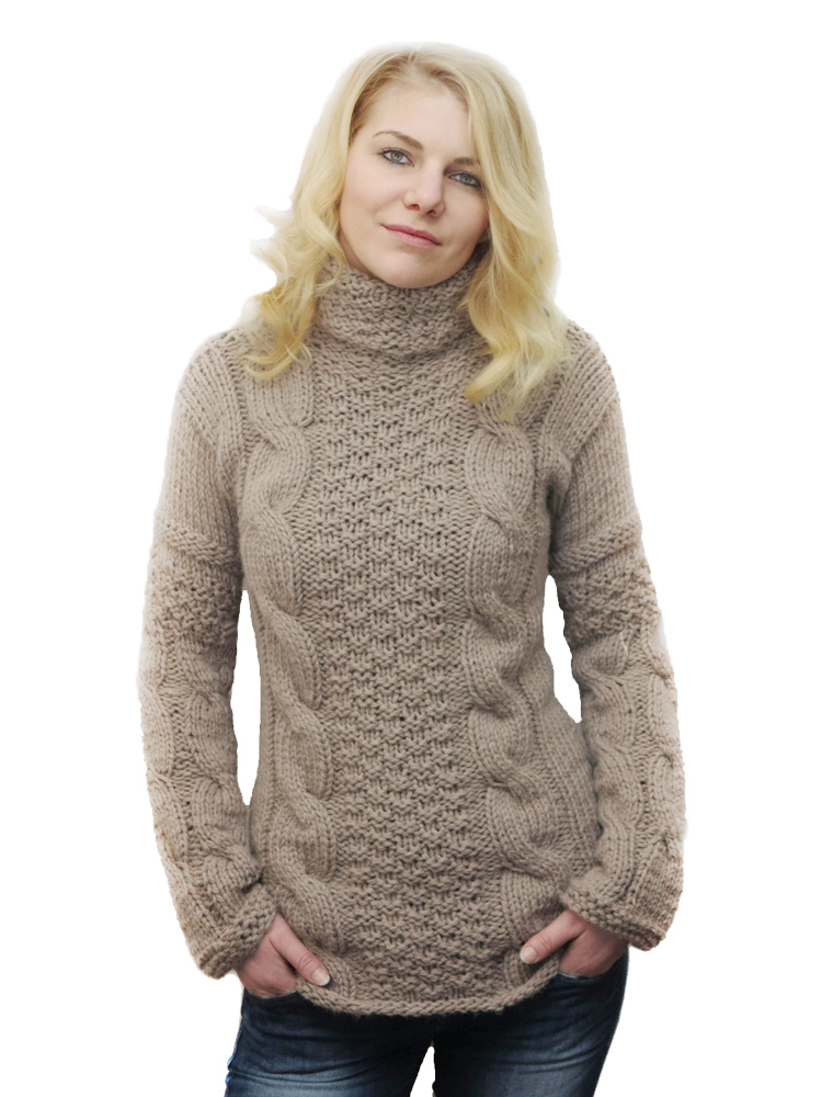 huge selection of a5bb2 82cdc Damen-Pullover mit Alpaca taupe